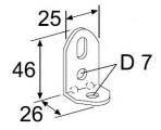 Děrovaný úhelník Webasto 90° pozink
