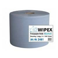Papírová utěrka 2-vrstvá modrá NORDVLIES Wipex