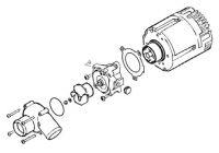 Náhradní díly čerpadla Flowtronic 6000SC 252488992510 Eberspächer