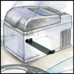 VITRIFRIGO C41D Danfoss 41L 12/24V/230V +10°C / -10°C Autolednička s mrazákem