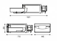 Indel B TB36AM 12/24V 36L -4°C Renault DAF Scania VOLVO MAN MB Vestavná kompresorová autochladnička