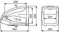 Waeco Bord Bar 12V TB 15G Termoelektrická autochladnička 9105302023 / TB-15G-12
