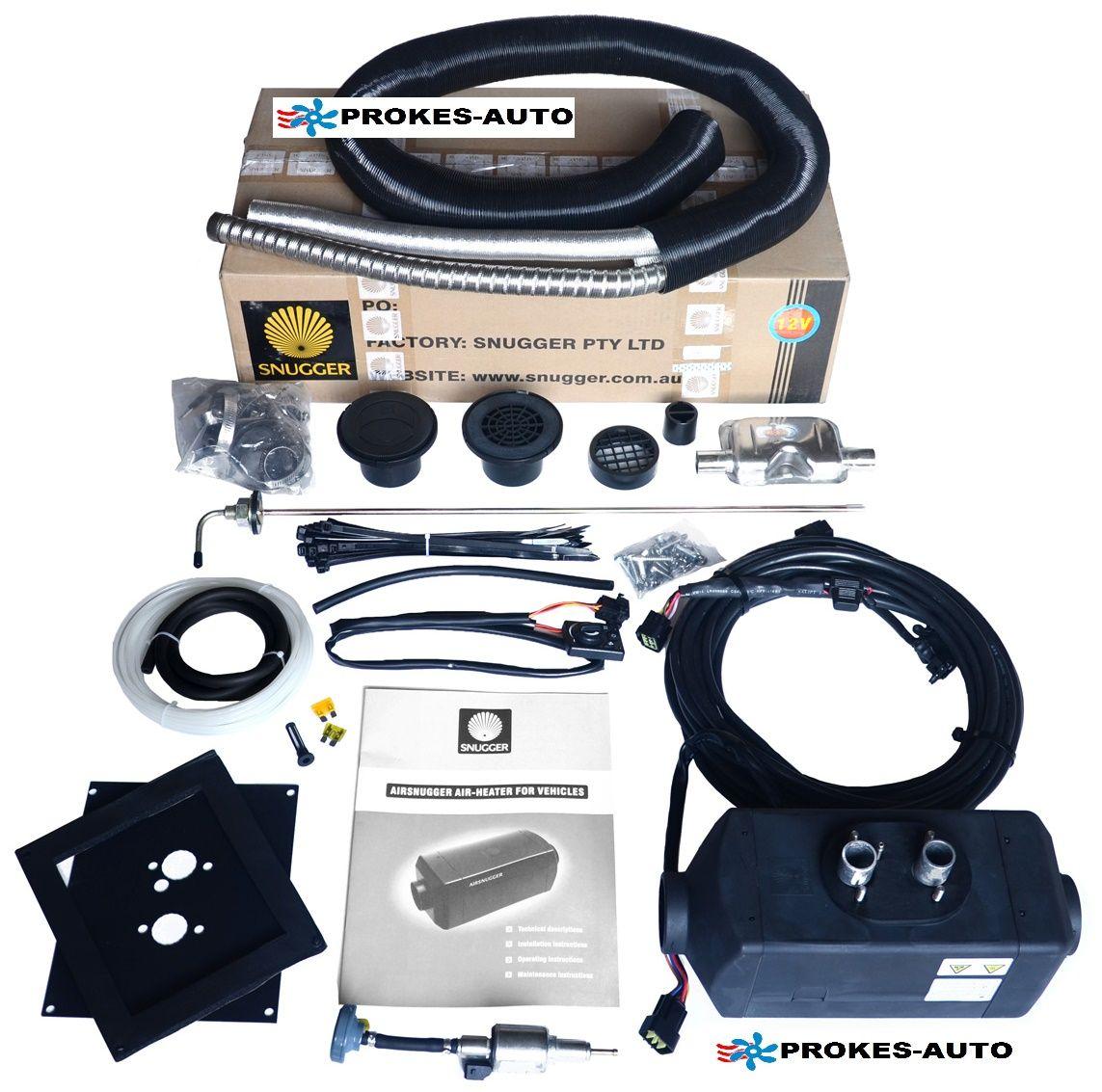 SNUGGER Teplovzušné topení Diesel 4,2kW PLUS 12V