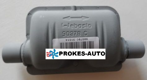 Webasto Tlumič výfuku 24mm STEEL 90378 / 1320372 / 90378C / 1320372A