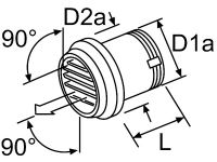 Webasto Výstup vzduchu 55mm 90° - 101625