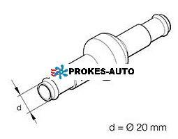 Eberspächer Zpětný ventil 2x 20mm 25400072 / 221000100800