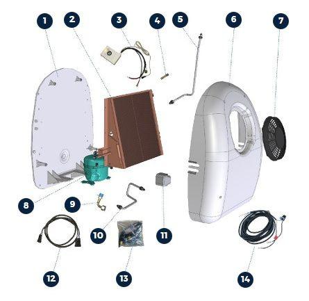 Ventilátor A/C axiální 24V Bycool Dinamic 1,1 Dirna