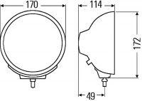 Reflektor Luminator Chrom Compact - Bílý 1F3 009 094-031 Hella