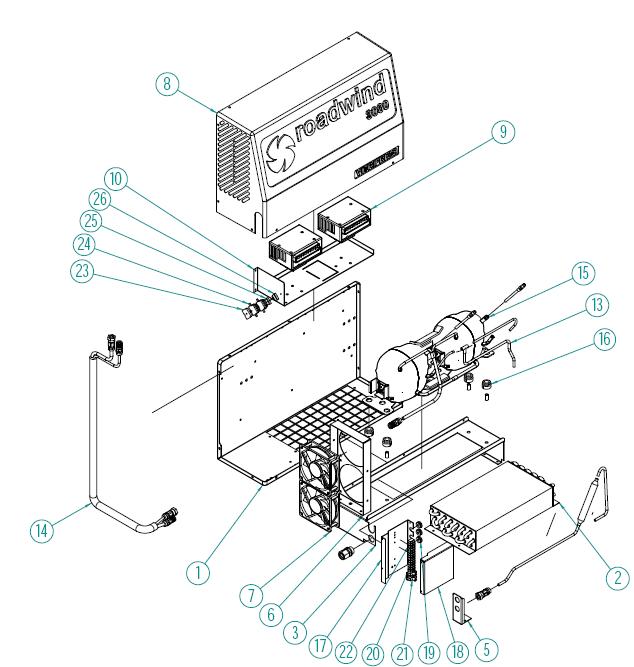 Řídící jednotka / modul kompresoru pro Roadwind 3000 Back Vitrifrigo