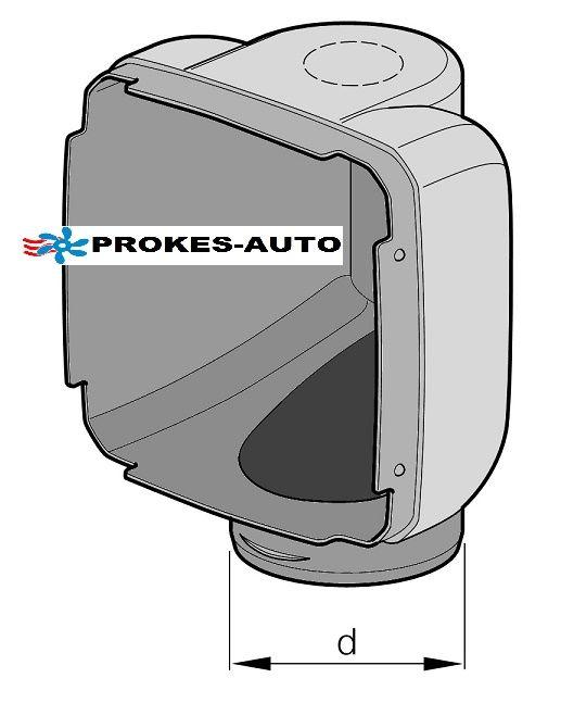 Výdech 90° D75mm pro topení D3LC a D3LC Compact 221000010002 Eberspächer