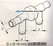 Zpětný ventil 4x18mm 25400070 / 12751 / 1319485 Webasto