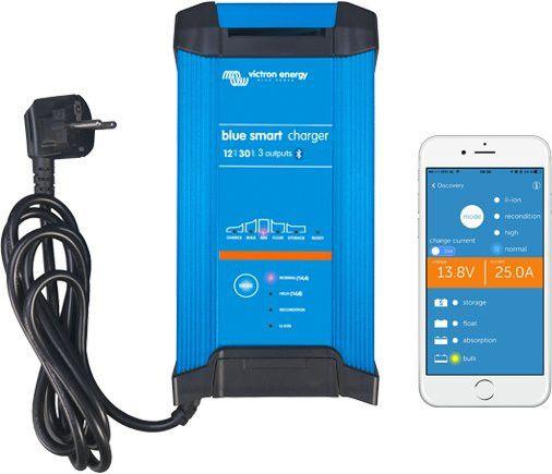 Blue SMART IP22 nabíječ 12V / 20A olověných a Li-Ion baterií s Bluetooth rozhraním - tři výstupy Victron Energy