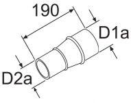 Webasto Redukce 80/60mm 252565 / 1319312