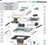 Kryt nasávací mřížky klimatizace Dirna Bycool Compact modrý 091087C015 / 091087C027 / 091205C006