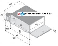 VITRIFRIGO BRK35P / 35L / 12/24V +10°C až 0°C SCANIA R, DAF, RENAULT Kompresorová autochladnička pro zástavbu pod lehátko