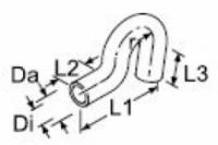 Webasto Tvarovaná vodní hadice Di18mm 84958 / 1320758