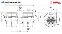 Ventilátor 4-rychlostní 009-B45-22-24V SPAL