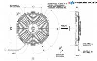 Ventilátor SPAL VA09-AP12/C-54A 12V / 280mm / sací