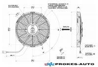 Ventilátor SPAL VA09-AP12/C-54S 12V / 280mm / tlačný