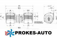 Ventilátor SPAL 24V výparníkový radiální 002-B46-02