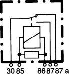 Hella Relé 24V přepínací 0933332081 / 4RD 933 332-081 / 20300066 / Tyco V23134-A5-X46