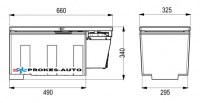 Indel B TB27AM 26L 12/24V 26L -4°C DAF XF Kompresorová autochladnička /automraznička