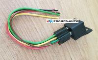 Relé 12V / 30A / 5 pólů / 16 Ω včetně patice s kabely