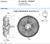 EBM PAPST ventilátor sací 630 mm 400V 4 pólový S4D630-AH01-01