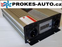 Měnič napětí / Power Inverter 2000W čistá sinusoida LCD displej