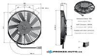 Axiální ventilátor tlačný Ø 255mm 24V