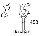 Jehla do nádrže Webasto 90° D5 závit M6 98605 / 1322632