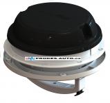 Střešní / nástěnný ventilátor MaxxAir Maxxfan Dome Plus 12V, černý, s LED osvětlením