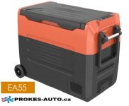 EA55 kompresorová autochladnička 55L 12/24V / 100/240V to -20ºC dvouzónová