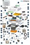 Ovládací dotykový panel A/C Dirna Compact s maticemi 091087C081 / 091087C021 / 091132C018 / 091133C015
