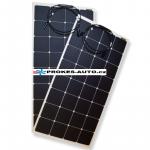 Sada flexibilních solárních panelů 2 x 110W/12 nebo 24V vč. regulátoru s připojením bluetooth