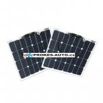 Sada flexibilních solárních panelů 2x 55W/12 nebo 24V vč. regulátoru s připojením bluetooth