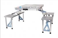 Kempingový skládací stůl s lavicemi