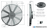 Ventilátor GENERAL CAB 24V tlačný 350mm 2514 m3/h 90050235 / VA08-BP51/LL-23S