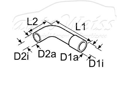 Webasto Tvarovaná vodní hadice 18/20 mm, 151/55 / 1320201 / 9007982