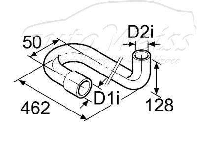 Webasto Vodní hadice tvarovaná 15mm, 180/90° 1320201